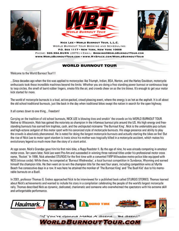 World Burnout Tour - Nick Lee